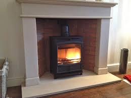 photo of installed wood burning stove multi fuel stoves cheshire ers