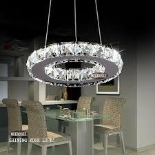 tiffany 1 circle diamond ring led re crystal day light modern pendant 8 wx32