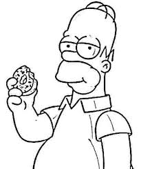 Pin By Ashley Rhodes On The Simpsons In 2019 Donut Coloring Page