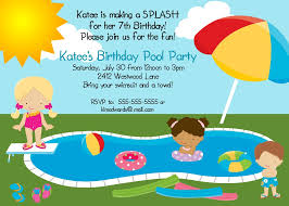 pool party invitation wording with the present invitation of divine design character 11
