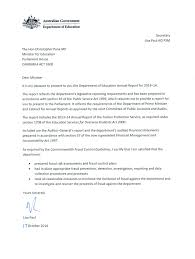 Letter Of Transmittal Annual Report Australian Government