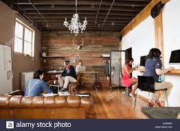 creative office spaces. Entrepreneurs Working In Creative Office Space Spaces A