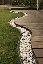 garden border stones. stones and decking garden edging ideas border
