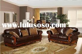 leather sofa with wood trim marvelous great and wooden home ideas 3