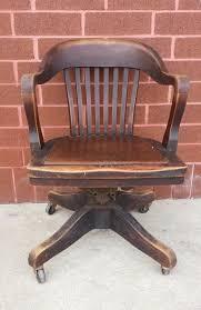 antique vintage marble shattuck wood chair swivel adjule fice desk chair