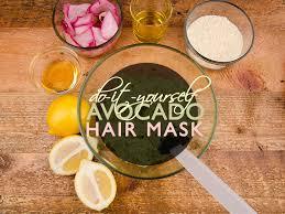 avocado hair mask diy eco fashion