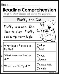 Kindergarten Reading Comprehension Passages - Set 1 FREEBIE | Wyatt ...