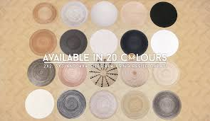 we need more round rugs and especially more made of natural material so i bring you my second set of jute round rugs in varying natural colours