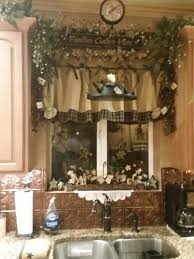 adorable kitchen window done with burlap valance