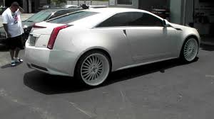 cadillac 2013 white. dubsandtirescom 2013 cts coupe lexani lss11 custom painted white luxury rims and tires youtube cadillac l