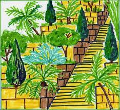 Урок обобщение в м классе по теме Древний Восток  Висячие сады Вавилона Рисунок 2
