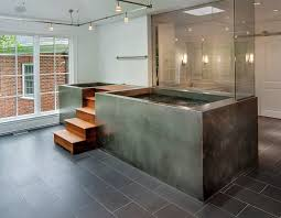 Bathroom With Hot Tub Interior Simple Ideas