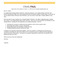 Best Computer Repair Technician Cover Letter Examples Livecareer