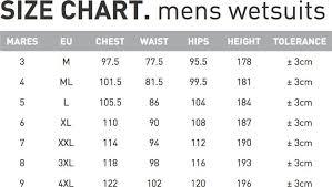 62 Proper Pinnacle Wetsuits Size Chart