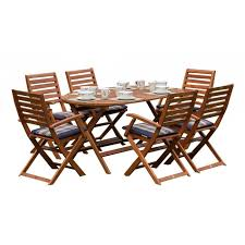 royalcraft torino oval folding table 6 torino folding armchairs cushions not included