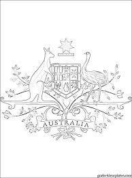 Wapen Van Australië Kleurplaat Gratis Kleurplaten