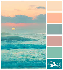 Ocean Colors Bedroom Ocean Sun Teal Blue Tiffany Pink Peach Blush Designcat