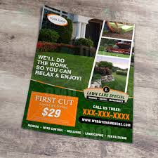 Lawn Care Brochure Lawn Care Flyer Design 5 The Lawn Market