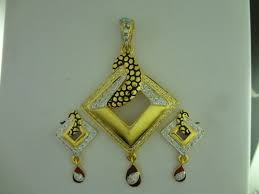 shreeji jewellers 22k gold pendant set
