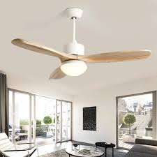 2019 nordic loft led ceiling fan light fashion double color change living room restaurant cafe wooden fan lamp with remote control from grege