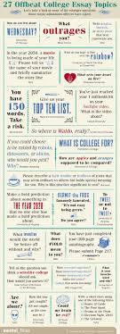 Unique College Essay Ideas 27 Offbeat College Essay Topics Education College Essay