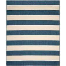 blue striped indoor outdoor rug rugs the home depot navy beige 8 compressed