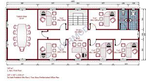 two story office building plans. Prefab Office First Floor Plan 214 M² Two Story Building Plans T