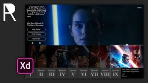 Star Wars Ui Design Intermediate Ui Design Tutorial Redesigning The Star Wars Films Page In Adobe Xd