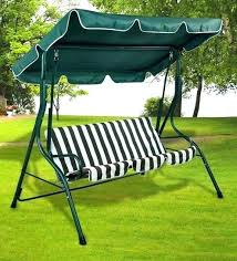 outdoor swing canopy with in green white colour by royal bench wooden