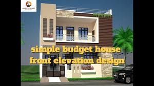 simple budget house front elevation design best indian home elevation 2017