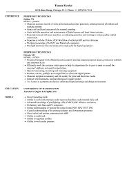 Prepress Technician Resume Samples Velvet Jobs
