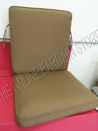 ballard designs fast dry highback chair outdoor cushion sunbrella 18x21 brown
