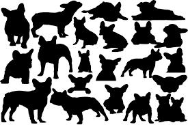 Boxer dog silhouette vector free. French Bulldog Graphic By Retrowalldecor Creative Fabrica