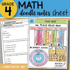 Math Placement Value Chart Math Doodle Place Value Chart So Easy To Use Ppt Included