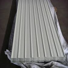 white coloured corrugated roofing sheets