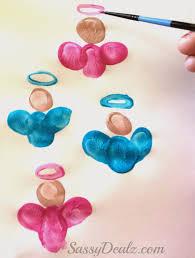 Kids Crafts For Christmas Diy Fingerprint Singing Angel Craft For Kids Crafty Morning