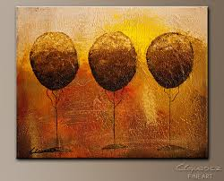 trees in paradise abstract art painting image by carmen guedez