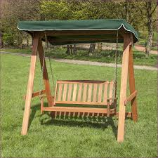wooden swing seat with canopy