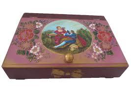 wooden decorative box – rococo style – d  romantic decorative art