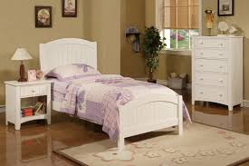 twin wood bed f9049 color white