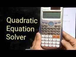 how to solve quadratic equation using
