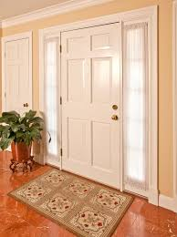 front door curtain panelsidelight curtains in Entry Traditional with Front Door With