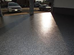 garage floor in evening sunlight