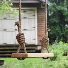 Tree Swing Olde Fashioned Tree Swing Wooden Outdoor Rope Swing