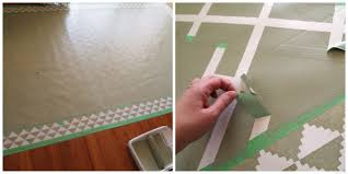 diy painted linoleum area rug