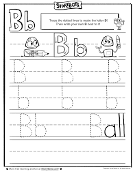 Letter B Tracing Sheet Abc Activity Sheets Storybots Theme