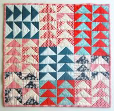 Flying Geese Quilt Pattern Enchanting Mini Quilt Of The Month July Flying Geese Purl Soho