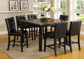 Marble Top Kitchen Table Set Furniture Of America Cm3870pt Boulder Ii 7 Pieces Marble Top