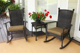 Portside 3pc Classic Rocking Chair Set in Dark Roast Wicker Tortuga Outdoor  Classic Wicker Front ...