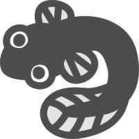 かわいい鰻うなぎのアイコンイラスト素材 可愛い絵文字アイコン